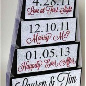 Special Dates Wedding Centerpiece