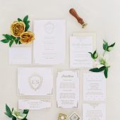 Scrolling Monogram Wedding Suite