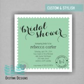 Postage Stamp Bridal Shower Invitation