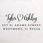 Calligraphic Heart Address Stamp