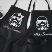 Mr and Mrs apron set