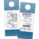 Starfish Destination Wedding Door Hanger