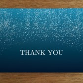 Thank You Card Template - Starry Night