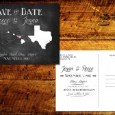 State Love Chalkboard Save the Date