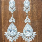 Courtney Statement Bridal Earrings