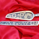 Sunflower Wedding Cake Server and Knife Set, Personalized
