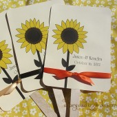 Sunflower Wedding Fans