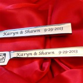 Personalized cake server sets