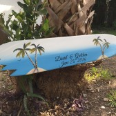 Palm tree guestbook wooden