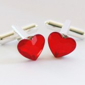 Swarovski Heart Cuff Links