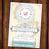 Sweetly Vintage Wedding Invitation