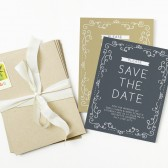The Surrounded in Swirls save the date card is modern, yet classy! Change all the colors and fonts to match your wedding theme perfectly.