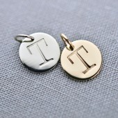 Personalized 14K Gold Letter Pendants