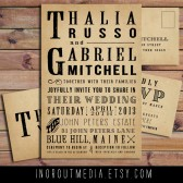 Rustic Typography Invitation Suite