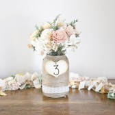 Engraved Heart Table Numbers