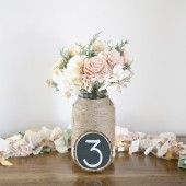 Large Chalkboard Table Number