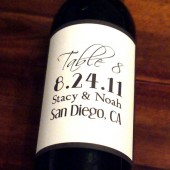Typography Wine Labels - Table Numbers