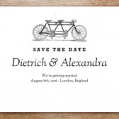 Tandem Printable Save The Date
