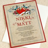 Tattoo Heart Wedding invitation