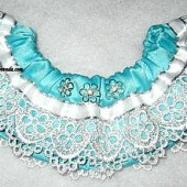Teal & Lace Keepsake garter