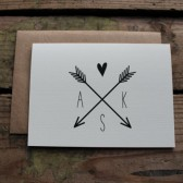 Rustic Wedding Thank You Card