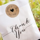 Thank You White Cookie Favor Bag