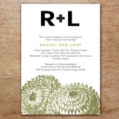 Thistle Printable Wedding Invitation