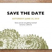 Thistle Printable Save The Date