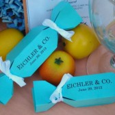 Candy Wrapper Favor Boxes Tiffany Blue
