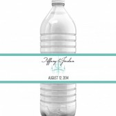 Tiffany Chandelier Water Bottle Labels