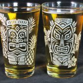 Tiki Pint Glasses, Groomsmen gifts