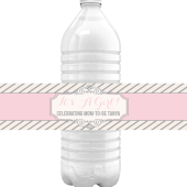Tina – Cute Stripe Water Bottle Labels