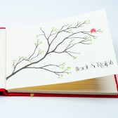 Personalized Guest Book Red Birds