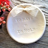 To Have & To Hold Ring Bearer Bowl