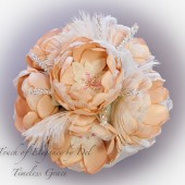 "8 1/2"" 'Timeless Grace' Vintage-Inspired Bridal Brooch Bouquet"