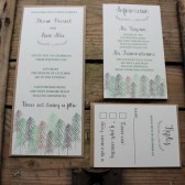 Rustic Woodland Tree Wedding Invitation