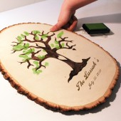Wedding Fingerprint Tree Guest Book