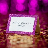 Hot Pink Escort Cards