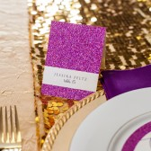Tall Glitter Place Card