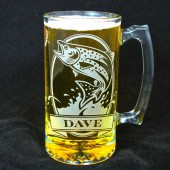 Personalized Trout Fish Beer stein