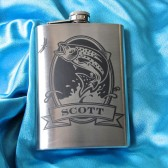 Personalized Trout Flask groomsmen gift