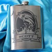 Personalized Trout Flask, Gift for Groomsmen