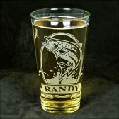 Personalized Trout Pint Glass, Groomsmen gift