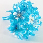 Mod Feather Flower Bridal Bouquet