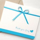 Turquoise Wedding Thank You Card