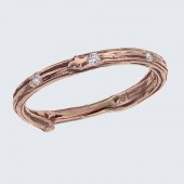 twig ring with diamonds