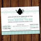 Two for Tea Bridal Shower Invitation