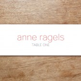 Two Hearts Printable Place Card