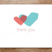 Two Hearts Printable Thank You Card