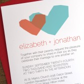 Two Hearts Printable Wedding Invitation Template